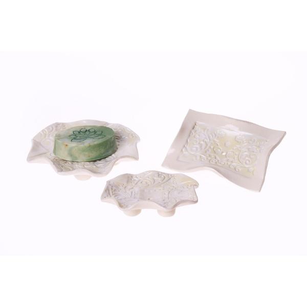 Seifenschale perlenweiß